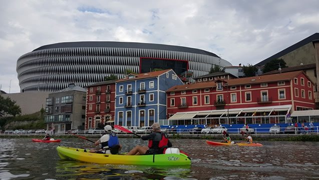 Piraguas - Travesía Bilbao-Bilbao - San Mamés